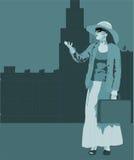 Woman illustration royalty free illustration