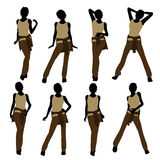 Woman Illustration Silhouette Stock Images