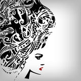 Woman image in grunge style Royalty Free Stock Images