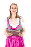 Woman with important documents Stock Images