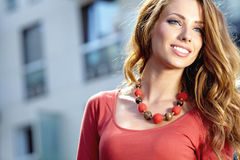 Free Woman In Autumn City Royalty Free Stock Image - 26949316