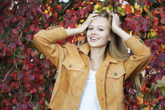 Free Woman In Autumn Park Royalty Free Stock Images - 16137319