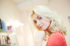 Woman In Beauty Salon Stock Image