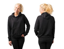 Free Woman In Black Blank Hoodie On White Background Royalty Free Stock Photo - 92896115