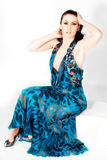 Woman In Blue Dress Royalty Free Stock Image