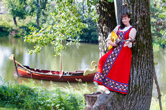 Free Woman In Dress Suit Stylized Ukrainian Folk Stock Photos - 65118343