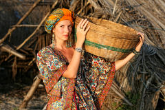 Woman In Ethnic Clothing Royalty Free Stock Photography
