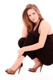 Woman In Fashion Shoes Stock Photography