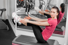 Woman In Fitness Center Royalty Free Stock Image