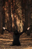 Woman In Forest Royalty Free Stock Photos