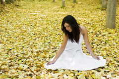 Free Woman In Forest Stock Photography - 7500302