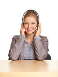 Woman In Formal Suit And Headset Stock Image