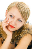 Woman In Fur Stock Image