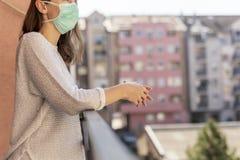 Free Woman In Home Isolation During Coronavirus Pandemic Stock Image - 178459881