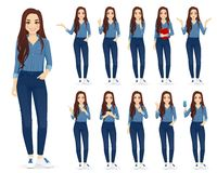 Free Woman In Jeans Set Royalty Free Stock Photography - 143450447