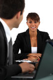 Woman In Job Interview Royalty Free Stock Images