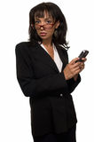 Woman In Large Eyeglasses Stock Images