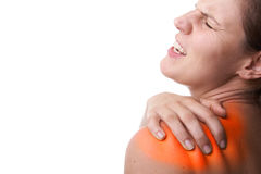 Woman In Pain Stock Photo