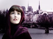 Woman In Paris Stock Photos