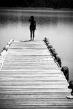 Woman In Pier Stock Image