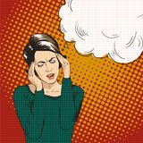Woman In Pop Art Retro Comic Style. Woman Oh Emotional Reaction Speech Bubble. Royalty Free Stock Images