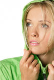 Woman In Raincoat Royalty Free Stock Photography
