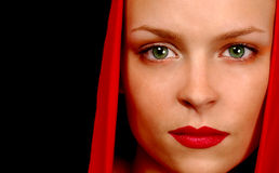 Woman In Red Cape Royalty Free Stock Images