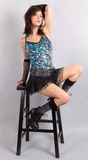 Woman In Sequin Top And Mini Skirt Stock Photography