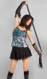 Woman In Sequin Top And Mini Skirt Royalty Free Stock Photos