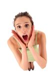 Woman In Shock Royalty Free Stock Photos