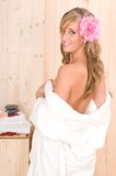 Woman In Spa Relax Massage Center Royalty Free Stock Images
