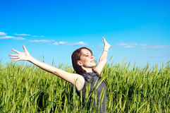 Free Woman In The Wheat Field Stock Photo - 19824650