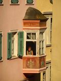 Woman In The Window, Bolzano, Italy Stock Images