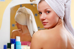 Woman In Towel Royalty Free Stock Images