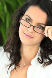 Woman In Trendy Glasses Royalty Free Stock Images