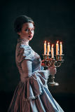 Woman In Victorian Dress Stock Photography