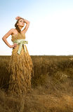 Woman In Wheat Field Royalty Free Stock Photo