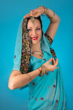Woman in Indian dress Stock Images