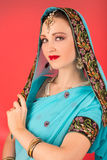 Woman in Indian dress Stock Photo
