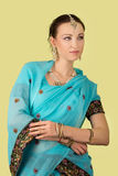 Woman in Indian dress Stock Photography