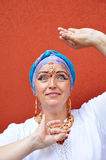 Woman with Indian jewleries Royalty Free Stock Image