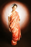 Woman in Indian national dress. Royalty Free Stock Photography