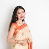 Woman in Indian sari Stock Photos