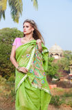Woman in indian sari Royalty Free Stock Photography