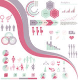Woman infographics Royalty Free Stock Image