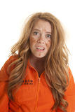 Woman inmate dirty shocked Royalty Free Stock Photography