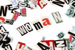 Woman inscription Stock Photo