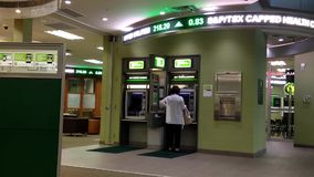 Woman inside the TD Bank