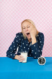 Woman with insomnia Royalty Free Stock Image