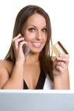 Woman Internet Shopping Royalty Free Stock Photos